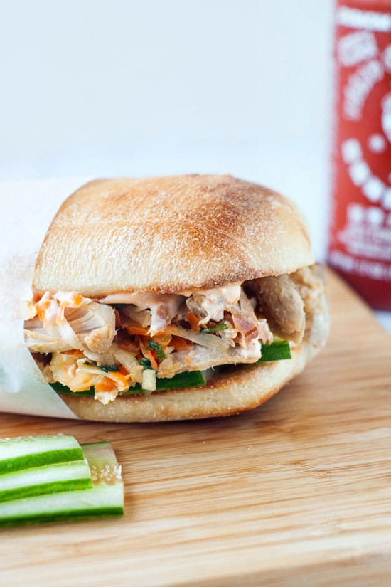 Banh Mi Style Pulled Pork Sandwiches