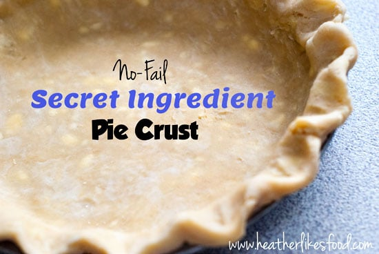 Secret Ingredient Pie Crust on a table.