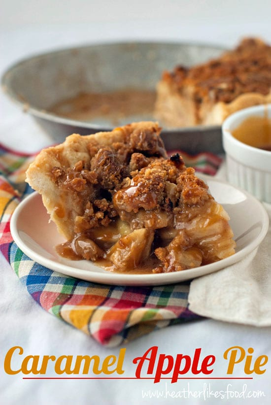 Caramel Apple Pie | heatherlikesfood.com