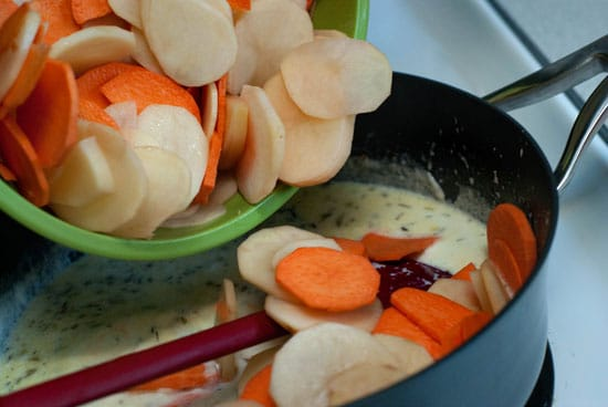 Herbed Sweet Potato Gratin | heatherlikesfood.com
