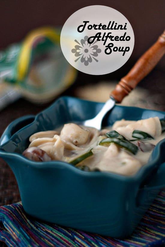 Tortellini Alfredo Soup | heatherlikesfood.com