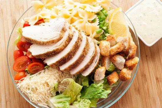 Bowtie Chicken Caesar Salad