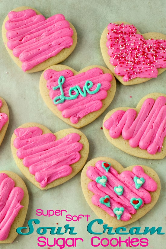 Super Soft Sour Cream Sugar Cookies | heatherlikesfood.com