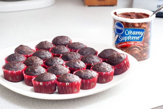 Mini Chocolate Box Cupcakes | heatherlikesfood.com