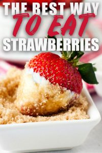 Sour Cream Brown Sugar Strawberries