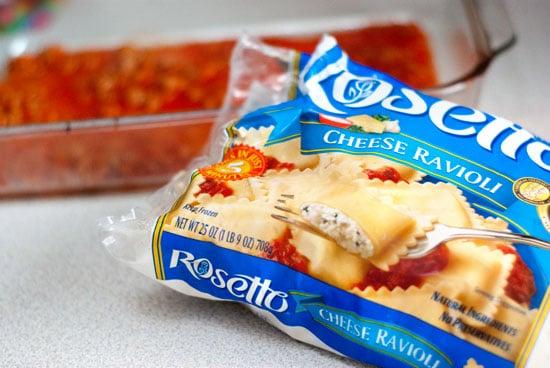 Frozen Rosetto Cheese Ravioli bag.