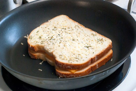 Garlic Parmesan Grilled Cheese Sandwich Recipe