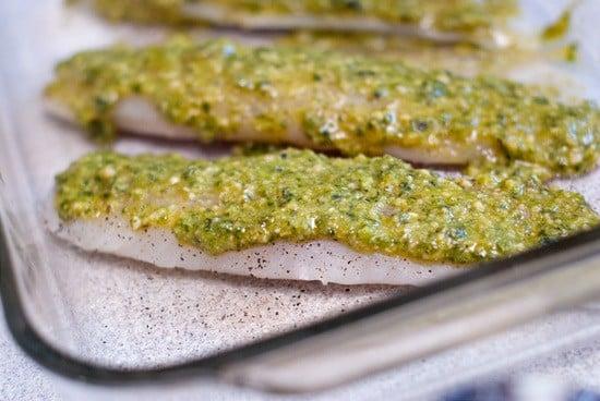 Oven Baked Pesto Tilapia | heatherlikesfood.com