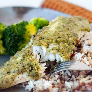 Oven Baked Pesto Tilapia   heatherlikesfood.com