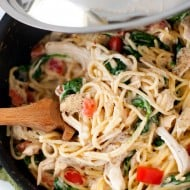 One Pan Chicken Florentine Spaghetti