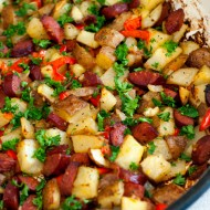Oven Roasted Potato and Sausage Skillet
