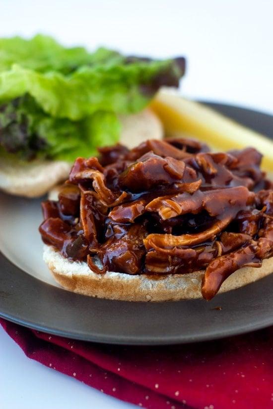 One Pan BBQ Chicken Sandwiches | heatherlikesfood.com
