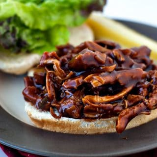 One Pan BBQ Chicken Sandwiches | heatherlikesfood.com