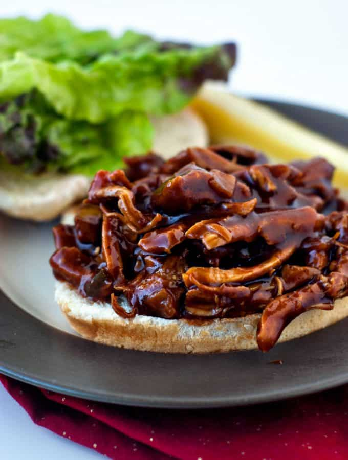 One Pan BBQ Chicken Sandwiches