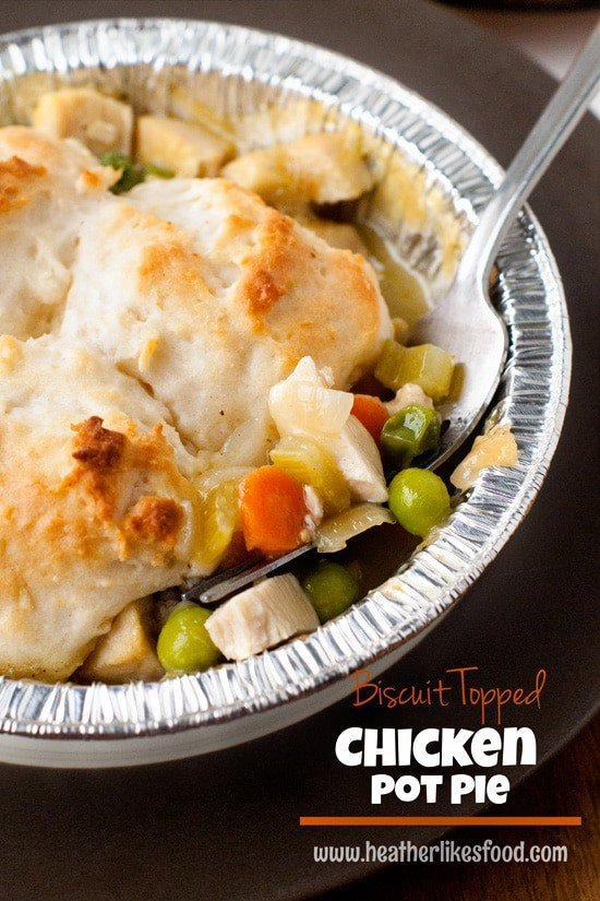 Biscuit Topped Chicken Pot Pies | heatherlikesfood.com