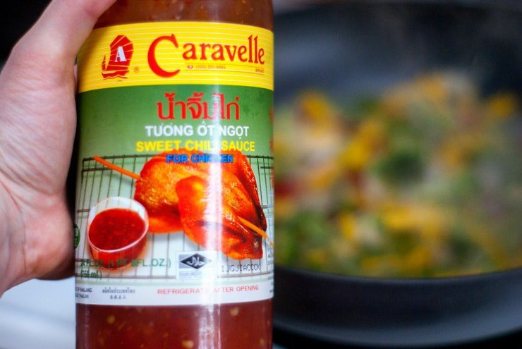 Jar of Caravelle Sweet Chili Sauce.
