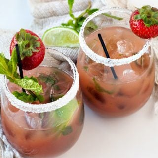 Strawberry Mojito Mocktails | heatherlikesfood.com