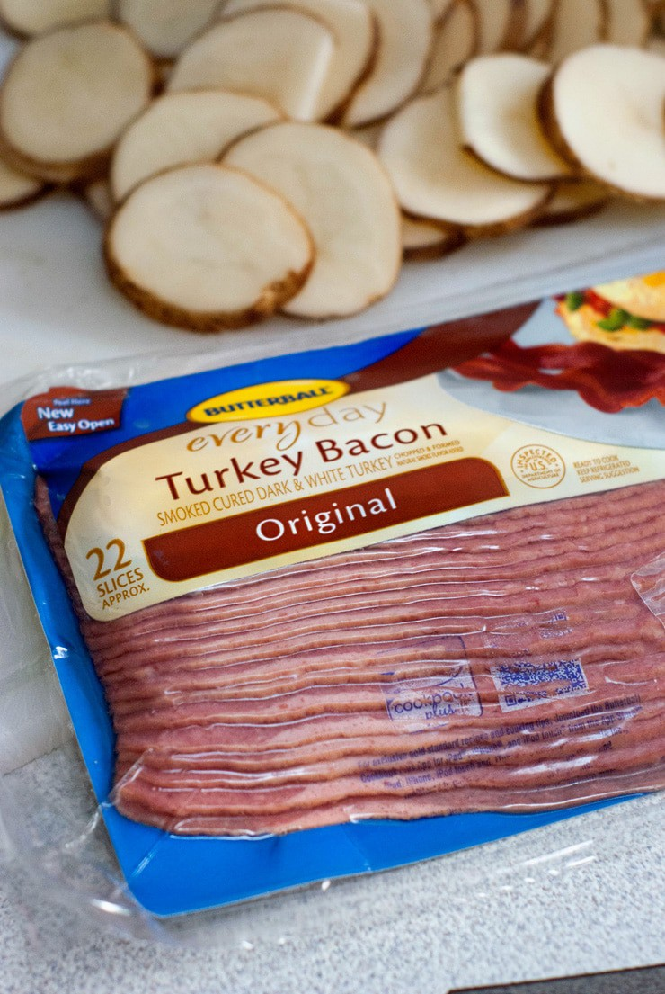 Butterball everyday Turkey Bacon in a sealed package.