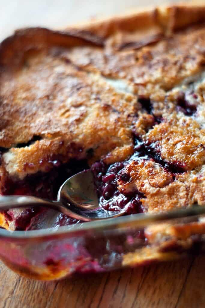 Easy Boysenberry Cobbler Heather Likes Food