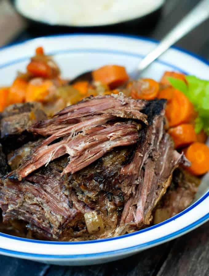 Classic Slow Cooker Pot Roast | heatherlikesfood.com