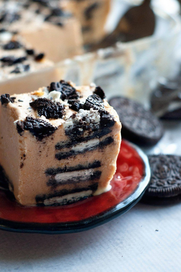 Pumpkin Oreo Ice Box Cake | heatherlikesfood.com