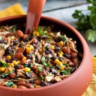 Slow Cooker Salsa Chicken Chili