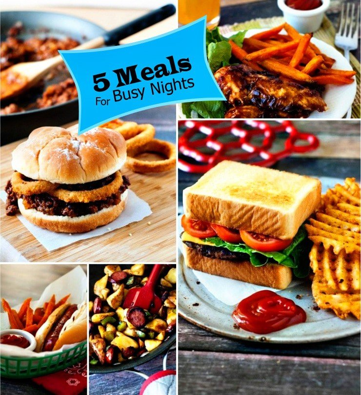 5 meals for busy nights  heatherlikesfood.com