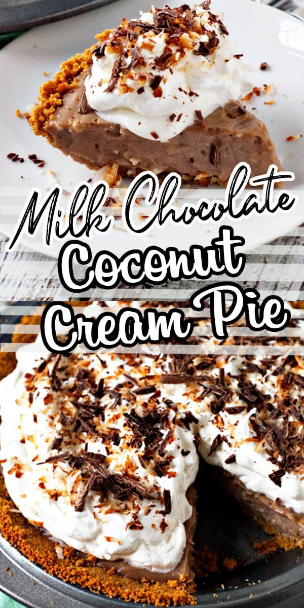 This decadent dessert will definitely win you a few friends! If you've never made a homemade cream pie, you might be surprised how easy they are to make! This recipe mixes a classic chocolate and coconut cream pie for the ultimate combination. You can use a graham cracker crust or traditional pie crust and top with fresh whipped cream. #easydessert #pie #chocolatedesserts #creampie via @hlikesfood