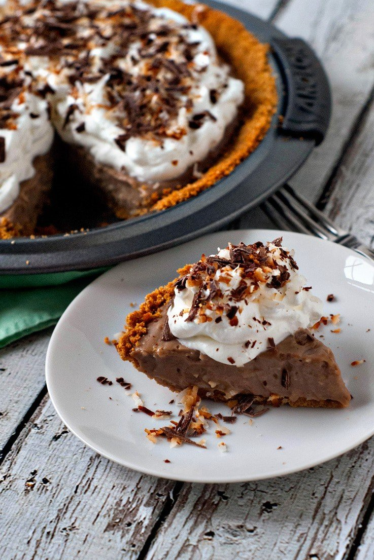 Milk Chocolate Coconut Cream Pie | heatherlikesfood.com