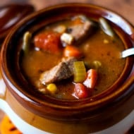 Hearty Slow Cooker Vegetable Beef Soup