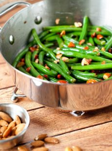 Brown Butter Green Bean Amandine | heatherlikesfood.com