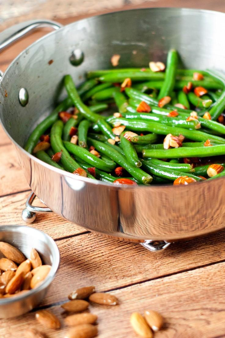 Brown Butter Green Bean Amandine | heatherlikesfood.com