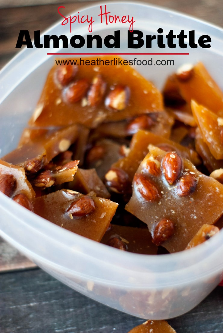 Spicy Honey Almond Brittle | heatherlikesfood.com