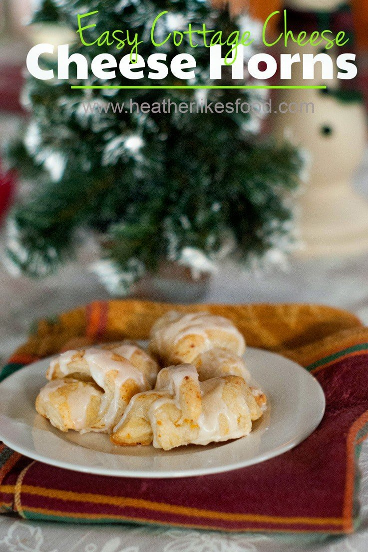 Delicious Cottage Cheese Butterhorns recipe on a white serving plate.