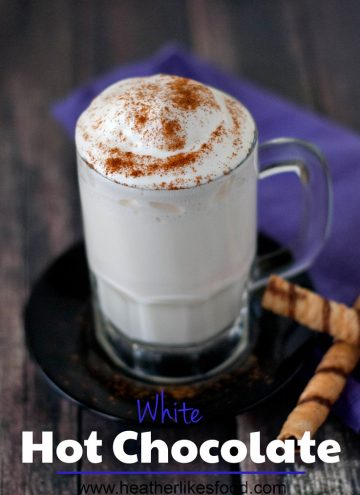 White Hot Chocolate | heatherlikesfood.com