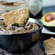 Black Bean Avocado Hummus | heatherlikesfood.com