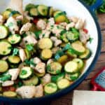 It turns outzucchini doesn't have to be dipped in beer batter, fried to golden crispy perfect and dunked in ranch dressing to be delicious! This chicken and zucchini saute uses just a handful of ingredients and is ready in under 30 minutes.