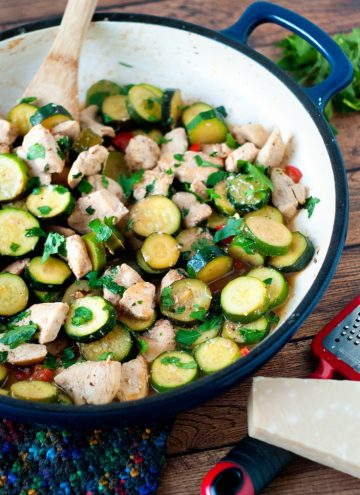 It turns out zucchini doesn't have to be dipped in beer batter, fried to golden crispy perfect and dunked in ranch dressing to be delicious! This chicken and zucchini saute uses just a handful of ingredients and is ready in under 30 minutes.
