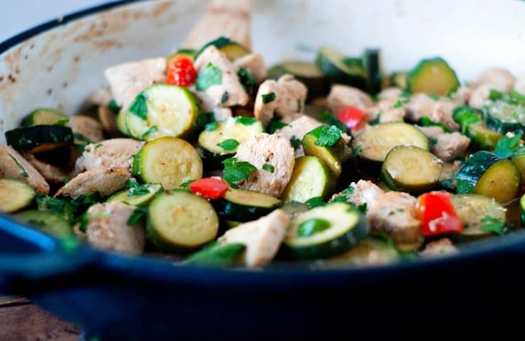 Parmesan Lemon Chicken and Zucchini Saute