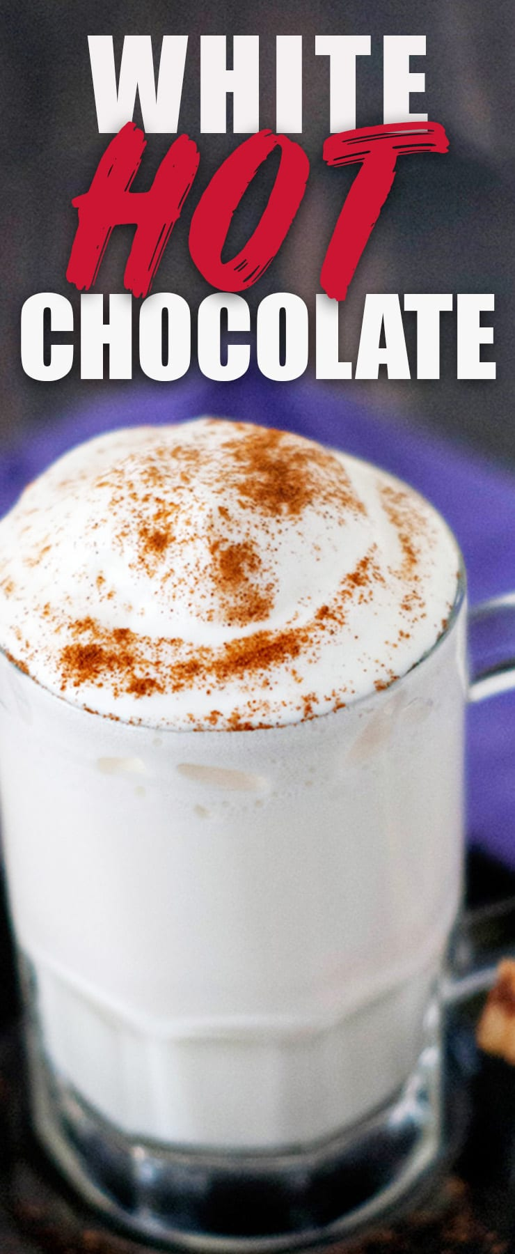This white hot chocolate is what Christmas dreams are made of! Save your money and ditch Starbucks because with this easy recipe you can have homemade white hot chocolate in no time. You can even make it in the crock pot for company if you want! #hotchocolate #white #starbucks