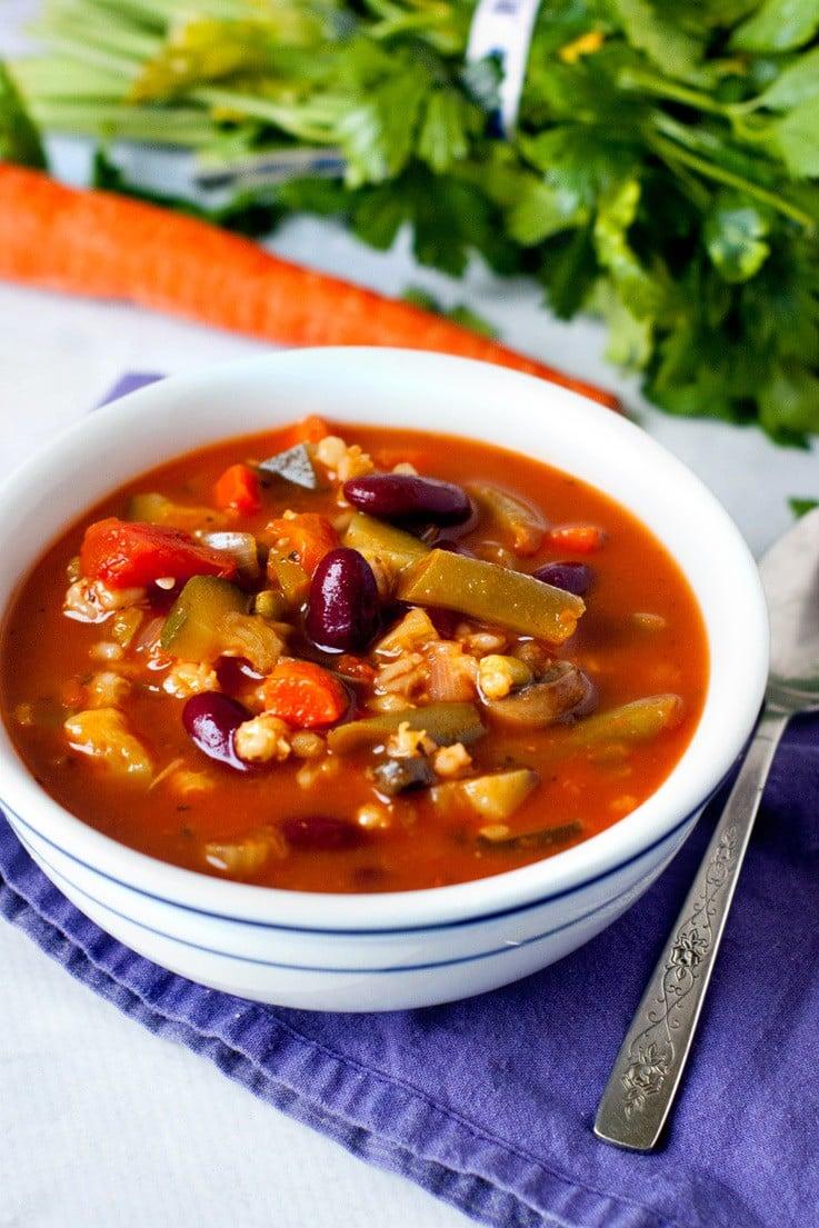Loaded Vegetable Diet Soup | heatherlikesfood.com