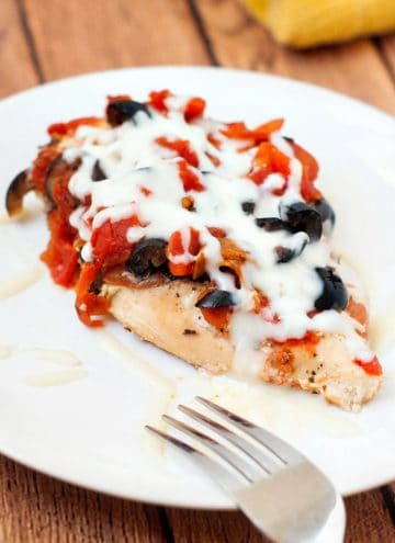 Slow Cooker Pizza Chicken | heatherlikesfood.com