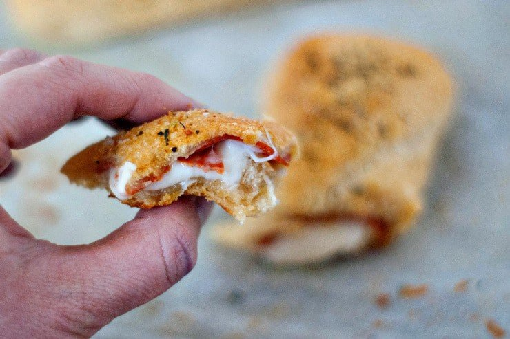 Pizza Sticks stuffed with Cheese and Pepperoni