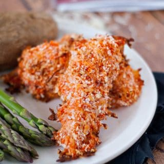 Cheesy Roasted Red Pepper Chicken Strips | heatherlikesfood.com