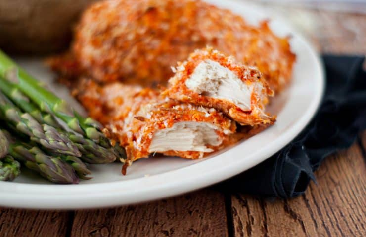 Cheesy Roasted Red Pepper Chicken Strips