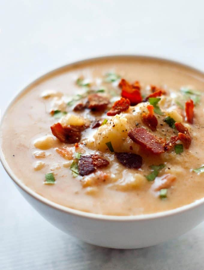 Cauliflower Chowder | heatherlikesfood.com
