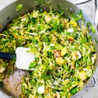 Don't like brussel sprouts? Think again! This saute will make a brussel believer out of you! Thinly slice the sprouts, saute in a little olive oil and finish with some lemon juice and parmesan cheese! They are so good you won't ever say you don't like brussel sprouts again!