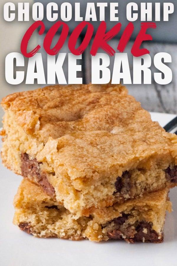 Chocolate Chip Cookie Cake Bars | heatherlikesfood.com