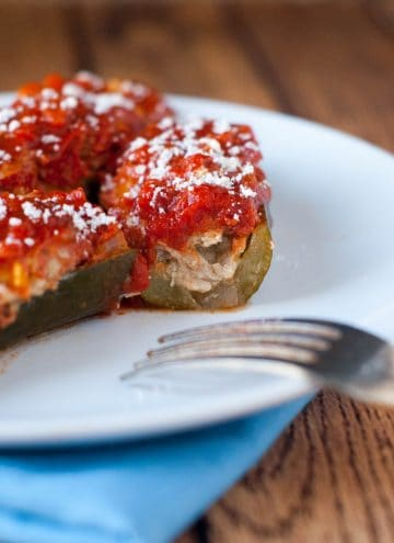 Sausage Stuffed Zucchini Boats: The perfect paleo, Whole 30 or low carb dinner!