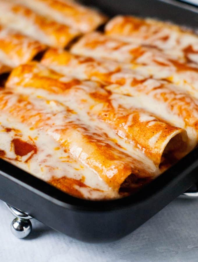 Taco Chicken Enchiladas
